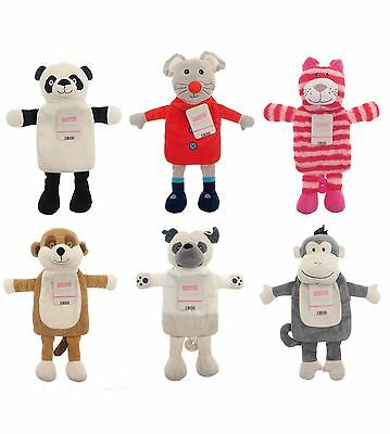 Kids Novelty Snuggly Hot Water Bottle With Soft Fleece Cover, Warm Winter H07
