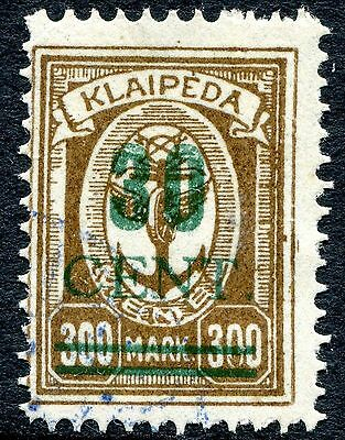1923 - LITHUANIA - OCCUPATION OF MEMEL 30c ON 300m BROWN, USED