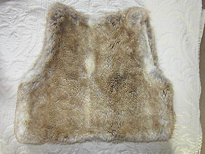 The Little White Company - BNWoT - *WOW* Faux Fur Gilet - age 8-10 yrs fit