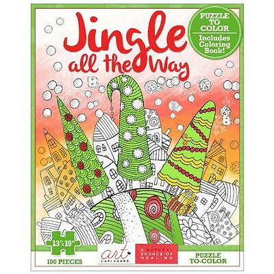 NEW Art Unplugged Jingle All The Way Coloring Puzzle 1940899257