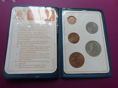 1971 Britain`s First Decimal Coins. Queen Elizabeth Ii.