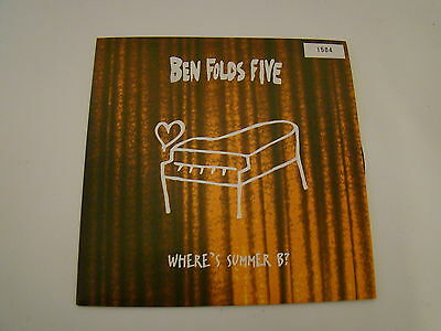 Ben folds five wheres summer b numbered 7 inch vinyl single new unplayed