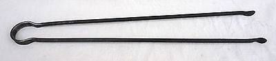 French Fireplace Tongs Wrought Iron Late 19th C