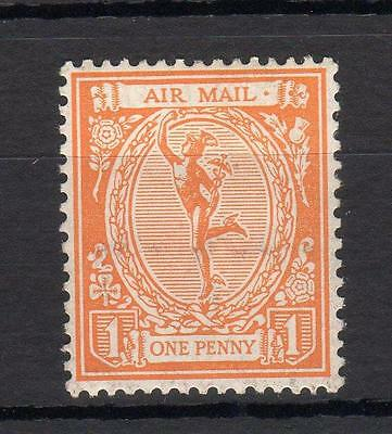 1923 Mercury Air Mail 'essay' Mounted Mint In Orange