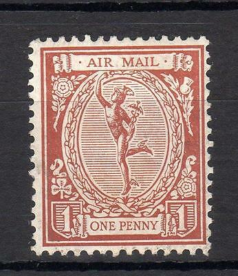 1923 Mercury Air Mail 'essay' Mounted Mint In Brown