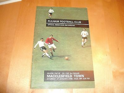 1967 - 1968 FULHAM v MACCLESFIELD TOWN FA CUP