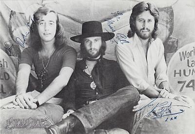Bee Gees gedruckte Autogramme Polydor RSO