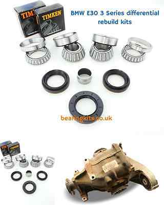 BMW 320i 3 Series E30 168 differential rebuild kit inc diff bearings & oil seals