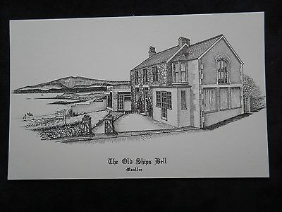 Vintage Welsh Postcard Of The Old Ships Bell Moelfre Bay, Anglesey