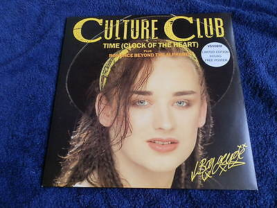 Culture Club..time..12 Inch 45 + Poster..1982, Mint..looks Unplayed