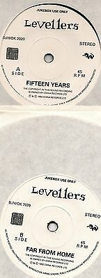 "Levellers 15 Years + Far From Home 7"" Single Jukebox Release Only 1992 Mint"