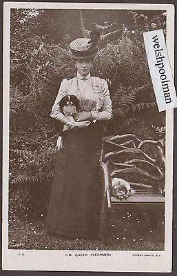 Lovely Antique 1906 H.M. Queen Alexandra And Her Pet Dogs Edward II Wife