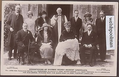 Lovely Vintage 1923 Christening Of George Henry Hubert Lascelles Queen Mary