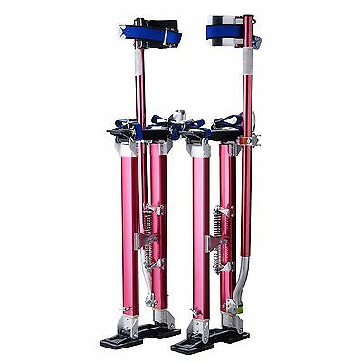 """Pentagon Tools 1118 Drywall Stilts 18"""" to 30"""" Height Red New"""