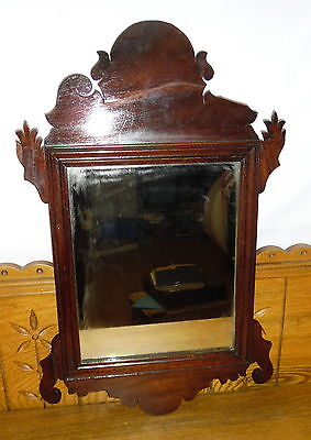 Antique Small Chippendale Mirror - As Is - Piece Broken Off