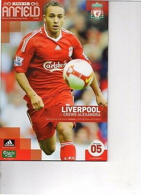 Liverpool v Crewe Alexandra 2008/09 Carling Cup 3rd round