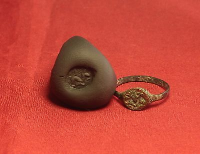Ancient Roman Seal Ring, Finger Ring, 5. Century