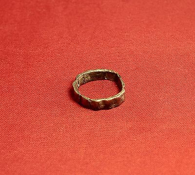 Ancient Celtic Silver Finger Ring