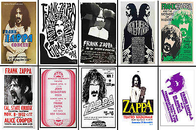 Frank Zappa - Set Of 10 Mixed Promo Poster Postcards # 2