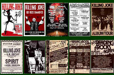 Killing Joke -  Collection Of 10 Mixed Postcards # 2