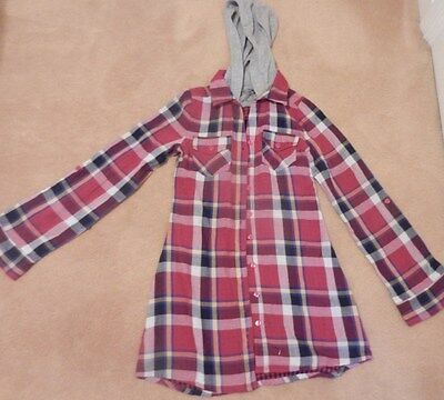 Girls Long Sleeved Checked Size 10-11 Years