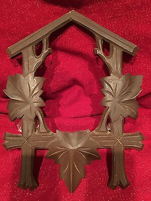 Large Antique German Black Forest Carved Musical Cuckoo Clock Shield Parts