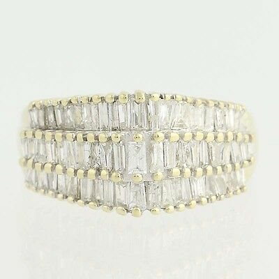 Tiered Diamond Ring - 10k Yellow Gold Baguette Cut 1.00ctw