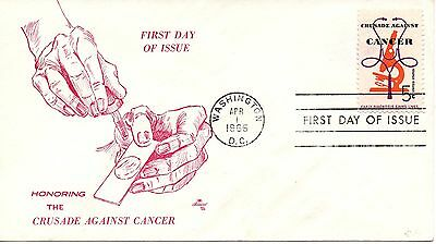 US FDC #1263 Cancer (3814)