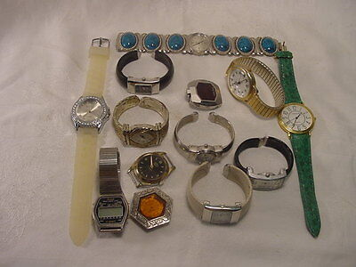 Vintage Watch Lot Geneva Belair Mondu Kingston
