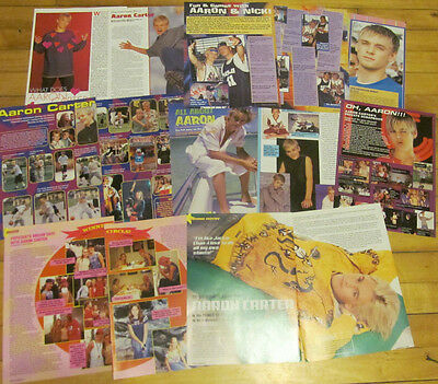 Aaron Carter, Lot of NINE Pinup Clippings