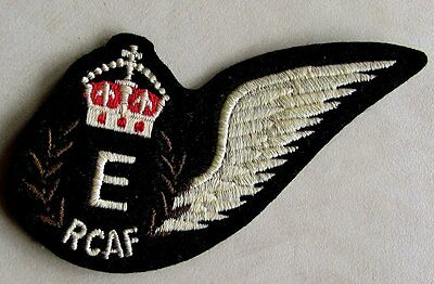 RCAF Royal Canadian Air Force Engineer Wing Crest Badge WWII Replica