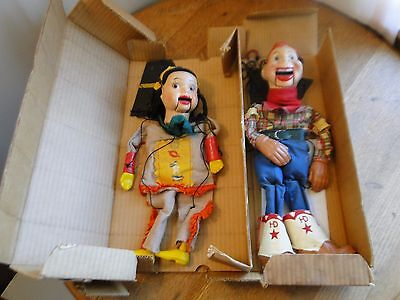 1950's Vintage Marionette Puppets Howdy Doody & Princess Summerfall Winterspring