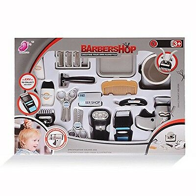 wps WPS Play Accessories Barber Shop Salon Hairstyle Play Set Kit with Shaver