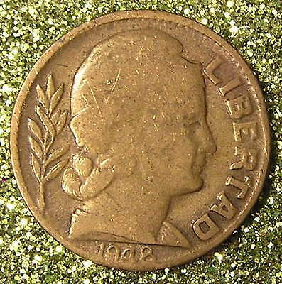 1-Coin from Argentina.  10-Centavos.  1948.