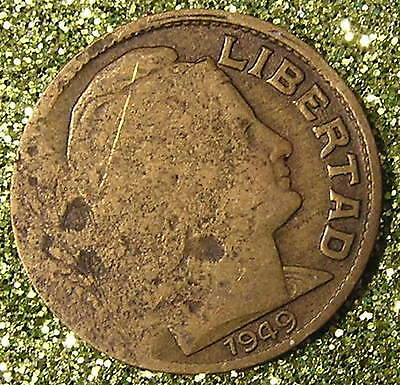 1-Coin from Argentina.  10-Centavos.  1949.