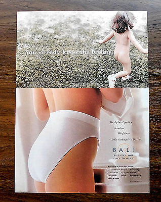 Bali Panties Nude Magazine Advertising Ad 1997