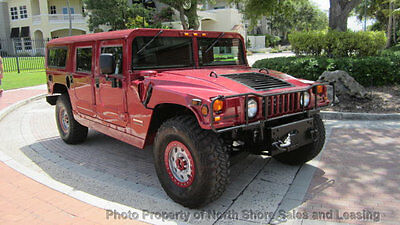 1999 Hummer H1 Amazing Custom Hummer H1 4X4 Florida Luxury SUV Candy Apple Red Custom Hummer H1 4X4 Diesel Many Upgrades Wow