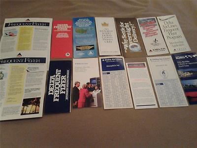 DELTA AIRLINES lot of brochures mostly 1980s