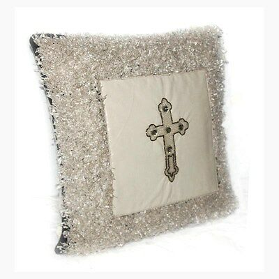 Silkroute PL12139 Braxton Ivory Shaggy Pillow