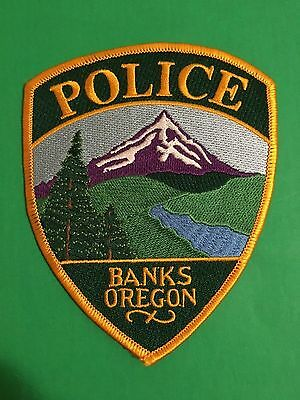 Banks Oregon Police Shoulder Patch    L@@k At My Patch Store
