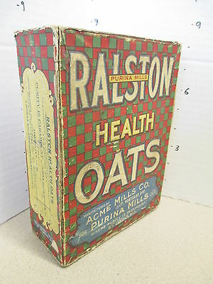 cereal box RALSTON 1900 Health Oats Acme Mills Co Purina Portland St Louis 100+