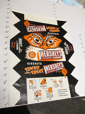 HERSHEY'S milk chocolate almond candy bar 1950s halloween mask candy box wrapper