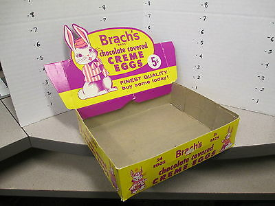 Brach's 1950s Easter Bunny chocolate covered creme eggs candy store display box