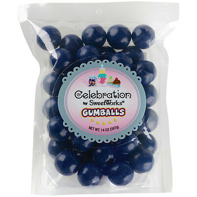 """""""Celebrations By SweetWorks Gumballs 14oz-Navy Blue, Set Of 3"""""""