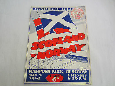 1954 INTERNATIONAL SCOTLAND v NORWAY