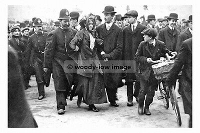 rp02797 - Arrested Suffragette led away by police - photograph