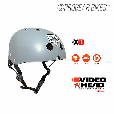 VIDEO HEADS Skate Helmet Built-in Camera Recorder for Sports Bicycle Skateboard