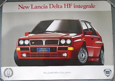Lancia Delta HF Integrale World Rally Champion Poster Manifesto 1992 Excellent