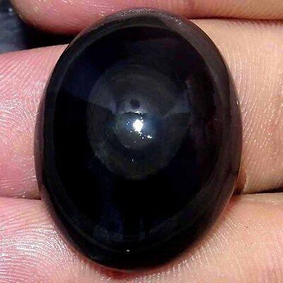 52.70Cts 100% NATURAL POWER EYE MEXICAN RAINBOW OBSIDIAN OVAL CABOCHON GEMSTONE