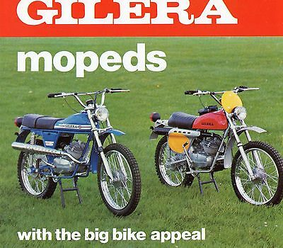 1974 Original Gilera Mopeds BROCHURE Full Colour 4 Page Great Condition